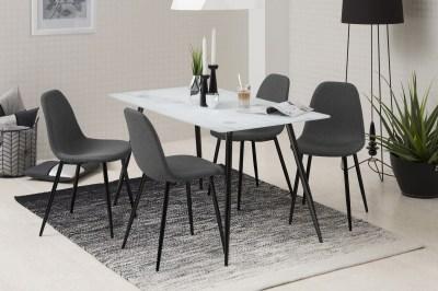 Dizajnová jedálenská stolička Alphonsus, sivá / čierna