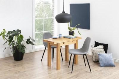 Dizajnová jedálenská stolička Alphonsus, svetlosivá / čierna