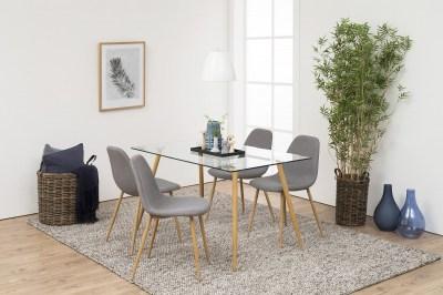 Dizajnová jedálenská stolička Alphonsus, svetlosivá