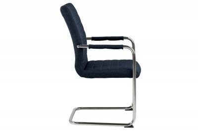 dizajnova-jedalenska-stolicka-daitaro-s-opierkami-tmavomodra-strieborna-2