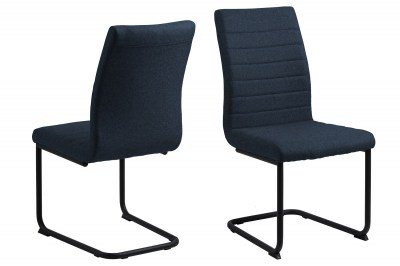 Dizajnová jedálenská stolička Daitaro tmavomodrá / čierna