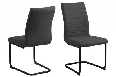Dizajnová jedálenská stolička Daitaro tmavosivá / čierna