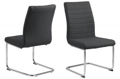 Dizajnová jedálenská stolička Daitaro tmavosivá / strieborná