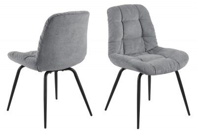 Dizajnová jedálenská stolička Dalinda sivá