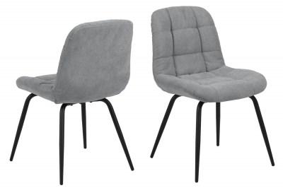 Dizajnová jedálenská stolička Dalinda svetlosivá