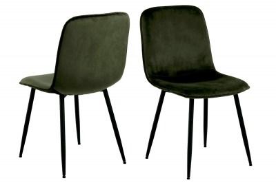 Dizajnová jedálenská stolička Damek olivovo-zelená