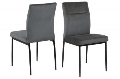 Dizajnová jedálenská stolička Damilola tmavosivá