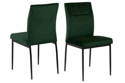 Dizajnová jedálenská stolička Damilola tmavozelená
