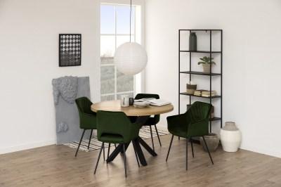 Dizajnová jedálenská stolička Danessa olivovo-zelená