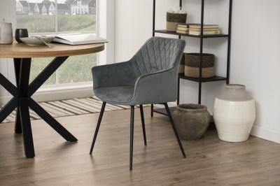 Dizajnová jedálenská stolička Danessa tmavosivá