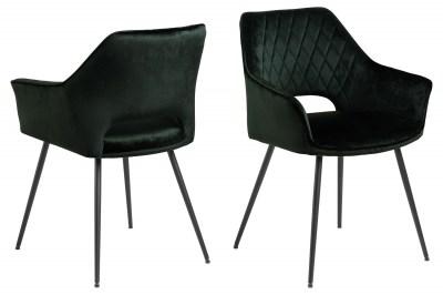 Dizajnová jedálenská stolička Danessa tmavozelená