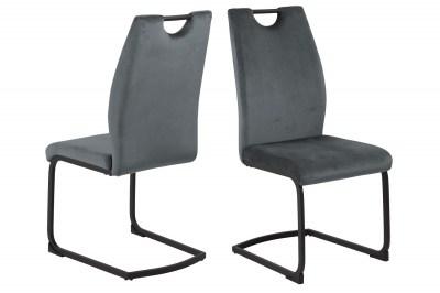 Dizajnová jedálenská stolička Darnell tmavosivá