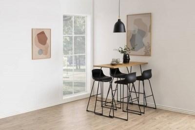 Dizajnová jedálenská stolička Nerys, čierna