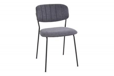 Dizajnová jedálenská stolička Rosalie tmavosivá