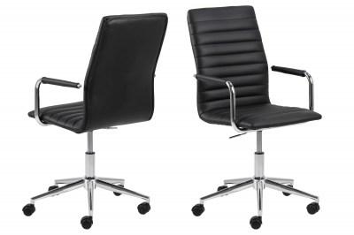Dizajnová kancelárska stolička Narina, čierna-chrómová