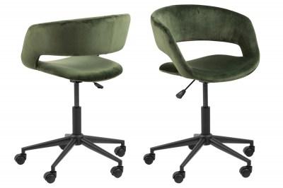 Dizajnová kancelárska stolička Natania, lesno zelená