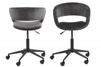 Dizajnová kancelárska stolička Natania, tmavo šedá