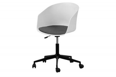 Dizajnová kancelárska stolička Natividad, biela-šedá