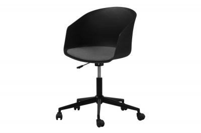 Dizajnová kancelárska stolička Natividad, čierna-šedá