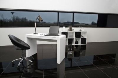 Dizajnová kancelárska stolička Navi, čierna