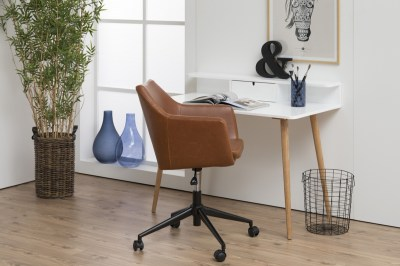 Dizajnová kancelárska stolička Norris, brandy five