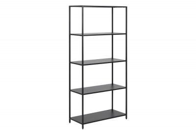 Dizajnová knižnica Layton 150 cm čierna