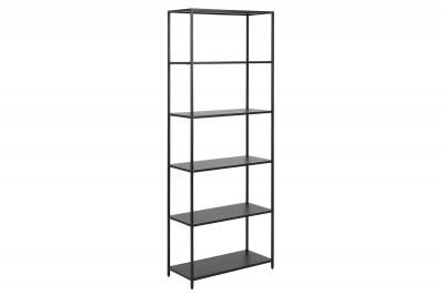 Dizajnová knižnica Layton 185 cm čierna