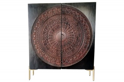 Dizajnová komoda Fernanda 120 cm čierne mango