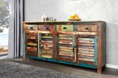 Dizajnová komoda Jacktar 160 cm recyklované drevo