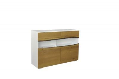 Dizajnová komoda Kira 120 cm dub - biely
