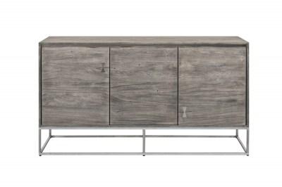 Dizajnová komoda Massive Artwork 147 cm sivá akácia