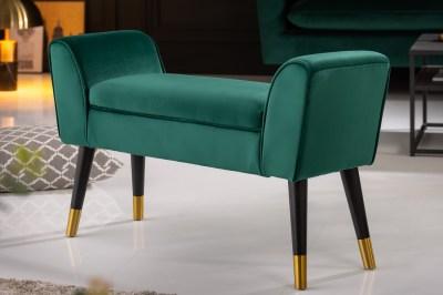 Dizajnová lavica Dafina 90 cm zamat smaragdová zelená
