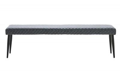 Dizajnová lavica Hallie sivá koženka