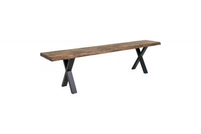 Dizajnová lavica Jonathon 180 cm dymový dub