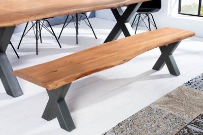 Dizajnová lavica Massive X Honey 160 cm akácia