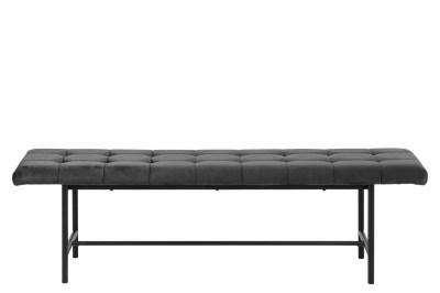 Dizajnová lavica Nerida, tmavo šedá