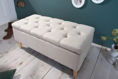 Dizajnová lavica Queen 100 cm béžová