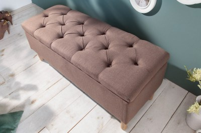 Dizajnová lavica Queen 100 cm kávová