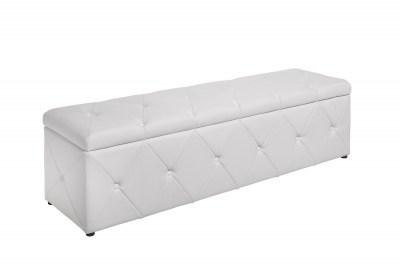 Dizajnová lavica Spectacular 140 cm biela koženka