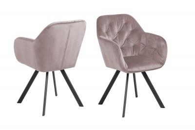 Dizajnová otočná stolička Aletris, ružová