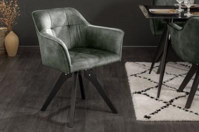 Dizajnová otočná stolička Giuliana zelený zamat