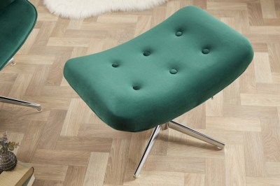 Dizajnová otočná taburetka Joe - smaragdovozelený zamat