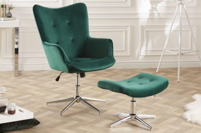 dizajnova-otocna-taburetka-joe-smaragdovozeleny-zamat-004