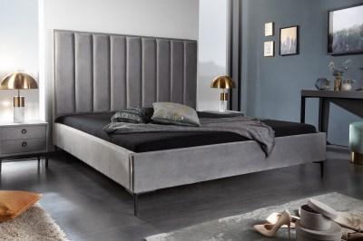 Dizajnová posteľ Gallia 160 x 200 cm strieborno-sivá