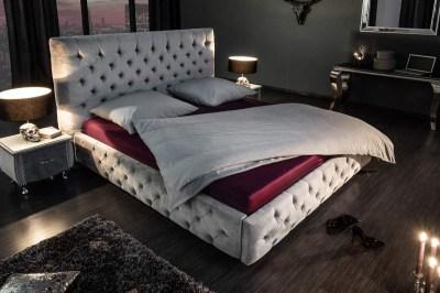 Dizajnová posteľ Laney 160x200 cm sivý zamat