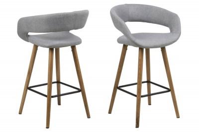 Dizajnová pultová stolička Natania, svetlo šedá