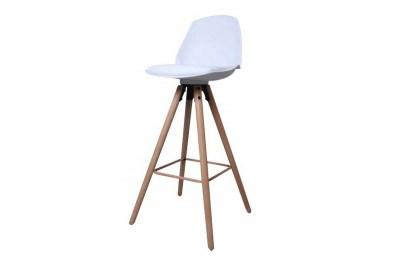 Dizajnová pultová stolička Nerea, biela