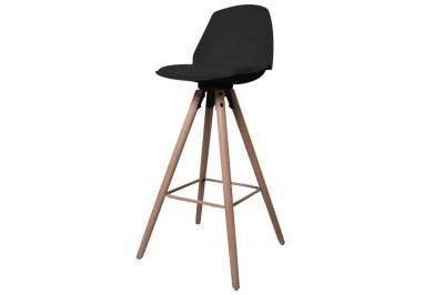 Dizajnová pultová stolička Nerea, čierna