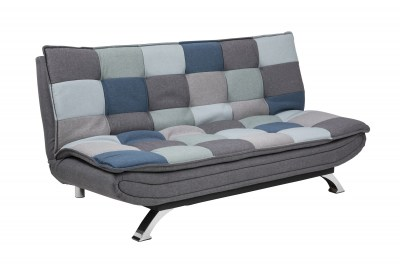 Dizajnová rozkladacia sedačka Alun, 196 cm, patchwork