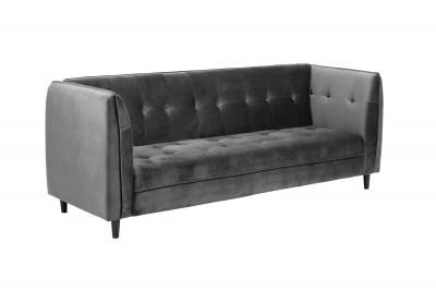 Dizajnová rozkladacia sedačka Alwyn, 235 cm, tmavosivá